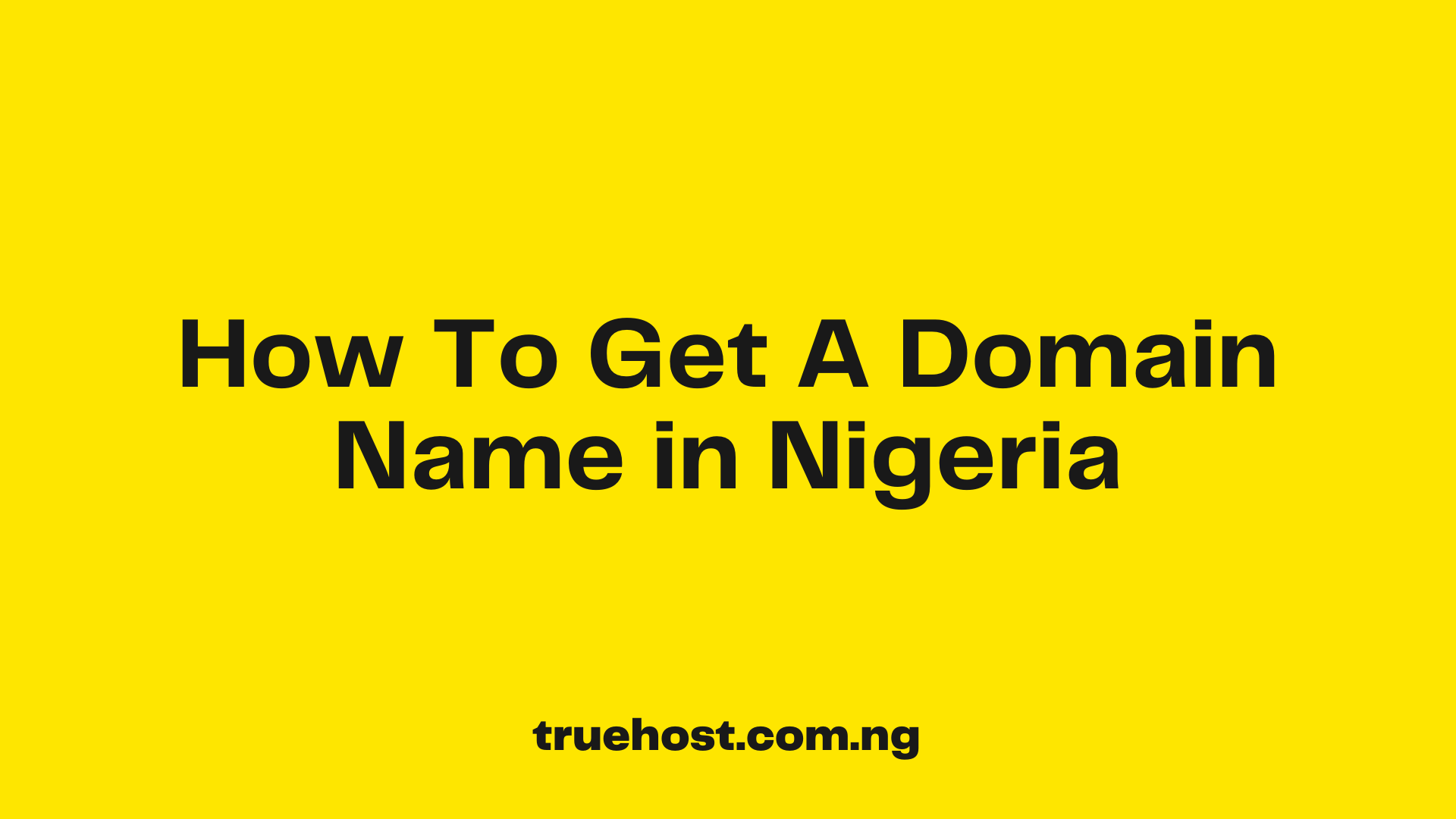Domain Name in Nigeria